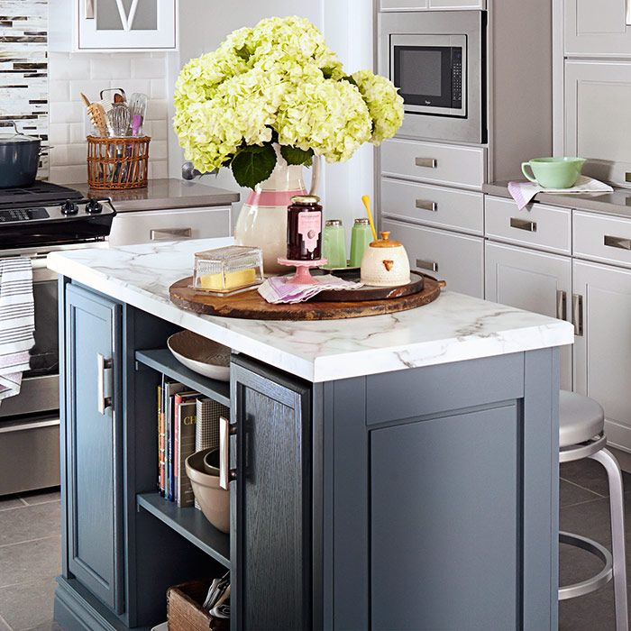 Kitchen Island Made Using Stock Cabinets New March Issue Of Lowes Creative  Ideas On The Apple