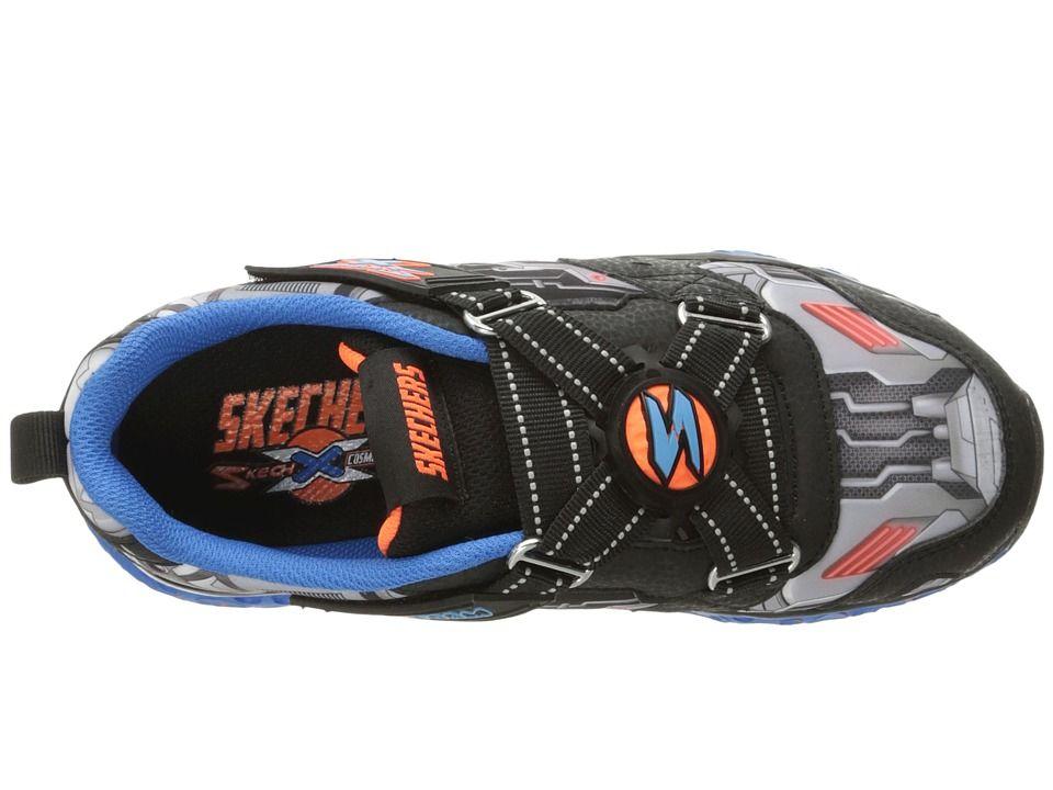a351e9aa5033 SKECHERS KIDS Cosmic Foam Portal X 97502L (Little Kid Big Kid) Boy s Shoes  Black Blue Orange