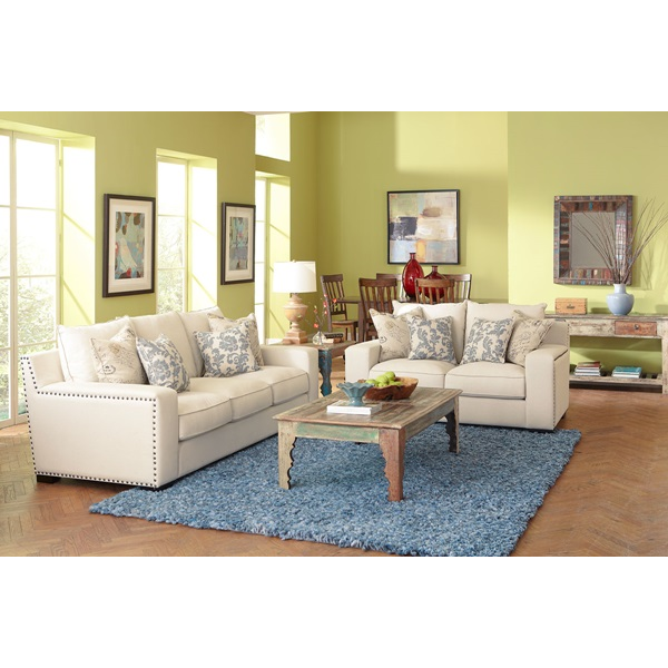 Stationary Linen Living Room Group | Brianu0027s Furniture