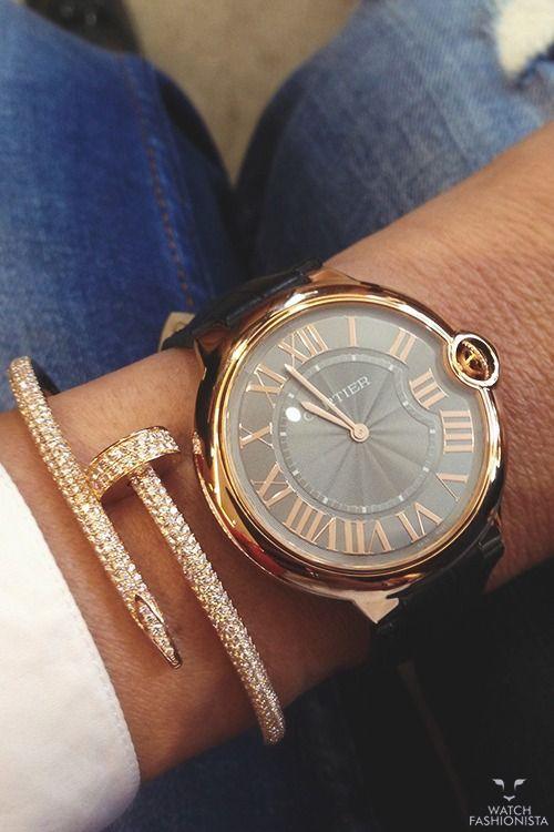 Beautiful watch and bracelet | Jewelry | Pinterest