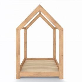 Spielbett Haus oskar kinderbett 90x200 cm kinderhaus massivholz bett kinder haus