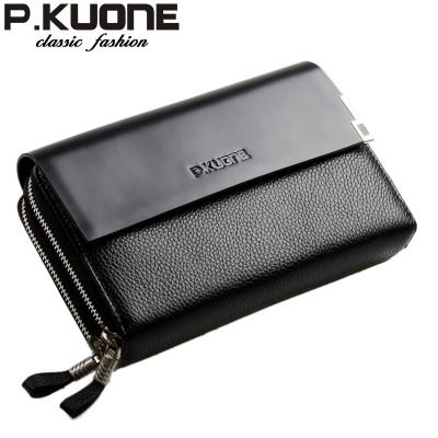 Pkuone Men Handbags Genuine Leather M Package Business Clutches High Capacity Leather Clutches 12485064696