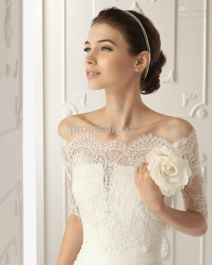 2016 free shipping cheap actual images cheap off shoulder romantic 2016 free shipping cheap actual images cheap off shoulder romantic short sleeve white ivory lace bolero wedding jackets bridal wraps vestido ombrellifo Choice Image