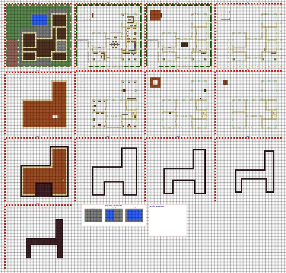 Npc village buildings by coltcoyote on deviantart apps directories - Modern Home Wip Pt2 By Coltcoyote