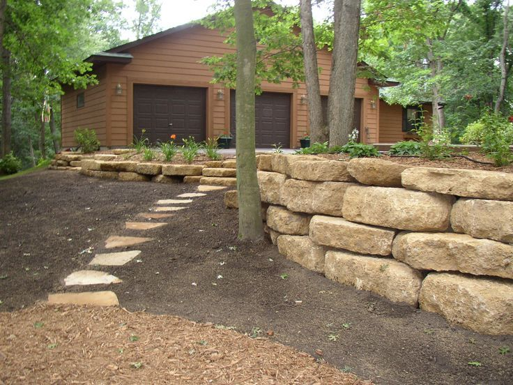 landscaping st louis boulder retaining wall stone on stone wall id=52758