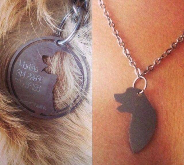 Best Friends Dog Tag Necklace Dog Info Included Friendship Necklaces Dog Love Dog Tags
