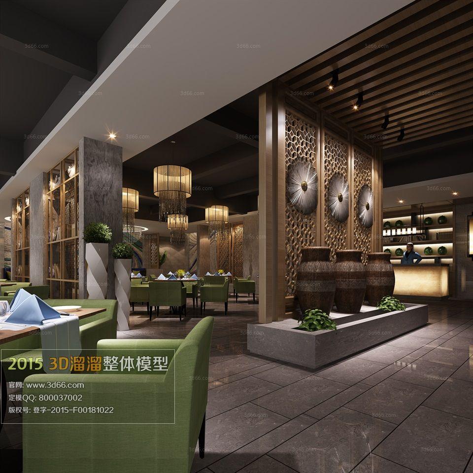 Restaurant, teahouse, cafe 3d model free download 60 ...