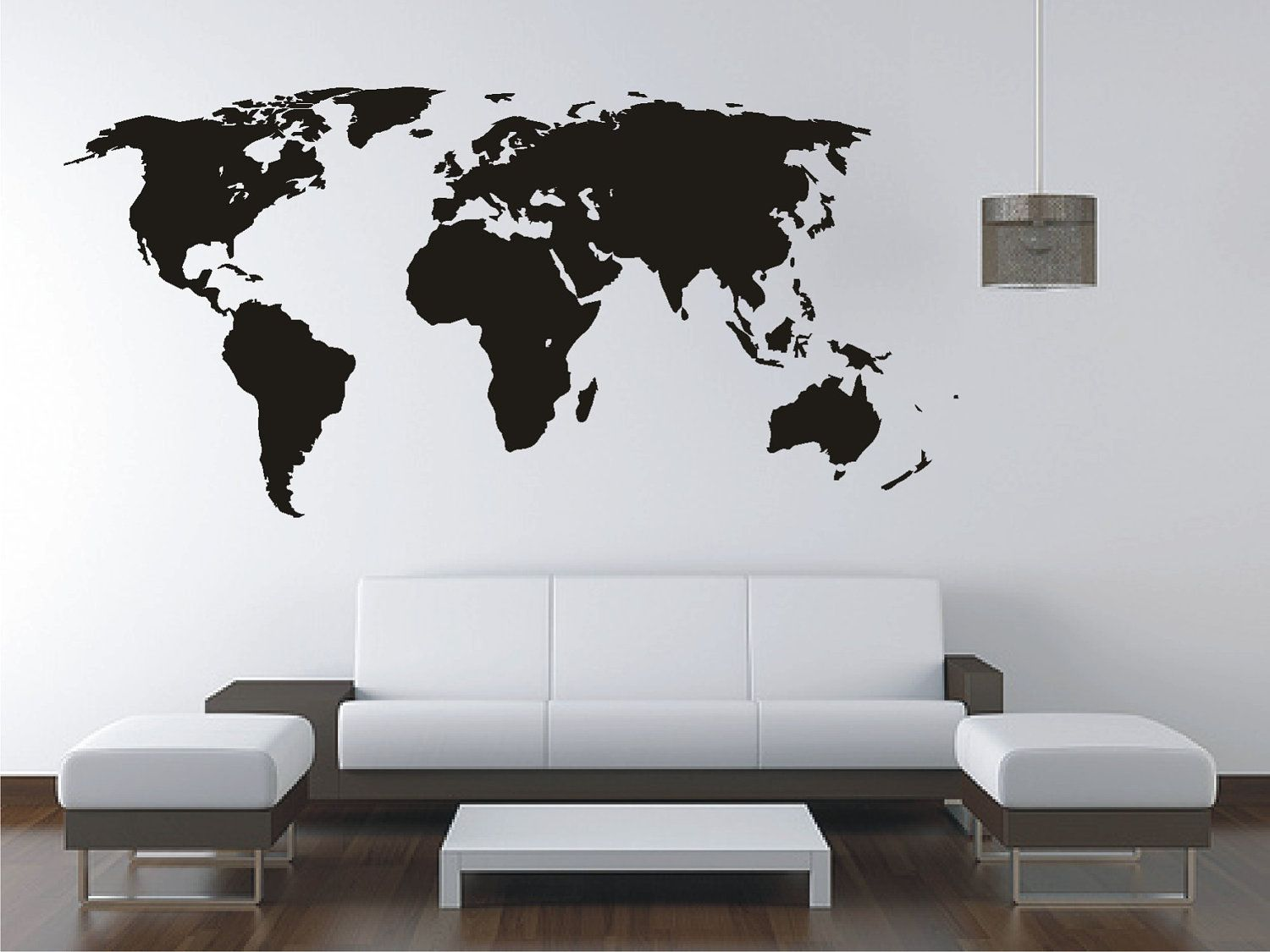 Großartig Wall Tattoo Das Beste Von Large World Map Vinyl Decal, Sticker, Tattoo.