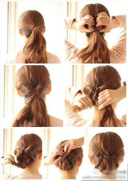 Simple Inverted Braid Bun Hair Styles Hair Beauty Long Hair Styles