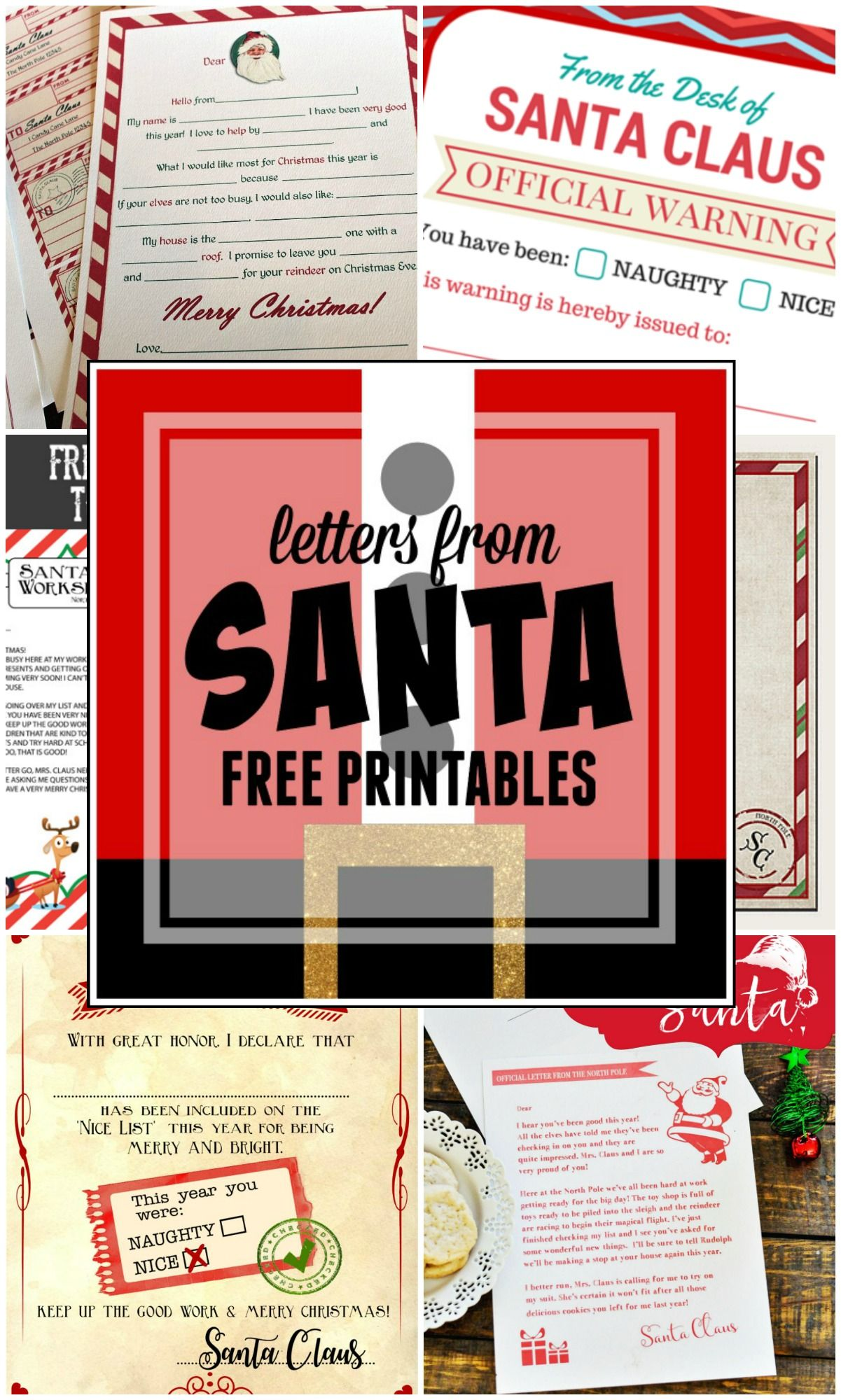 Letters From Santa  Free Printables Santa And Christmas Traditions