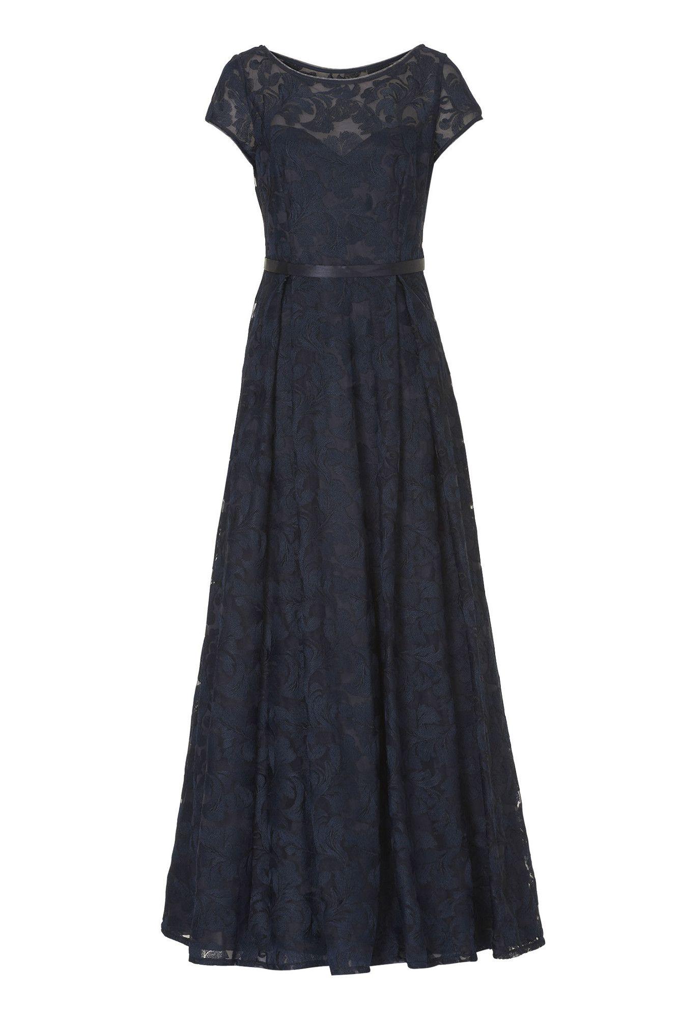 Festliches Kleid Tüllspitze Dunkelblau Vera Mont  Mode Bösckens