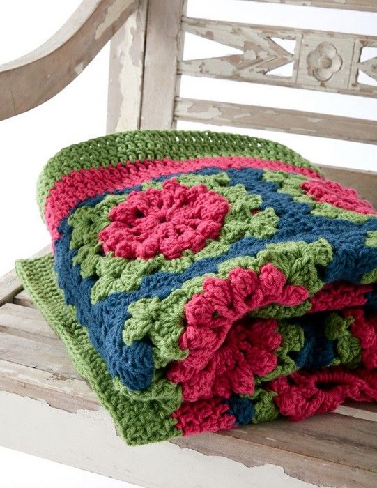 Aprende a hacer una manta brillante y alegre. Este afgano, formado ...