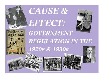 This activity has students practice the historical thinking skills of cause and effect, examining how government regulation (or lack thereof) impacted both the US economy and society of the 1920s and 1930s.