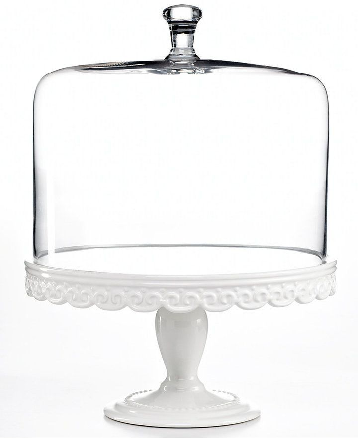 Martha Stewart Collection Serveware Embossed Cake Stand From Pumpkin Pie To Birthday Make Any Baked Good Look Even Better On This