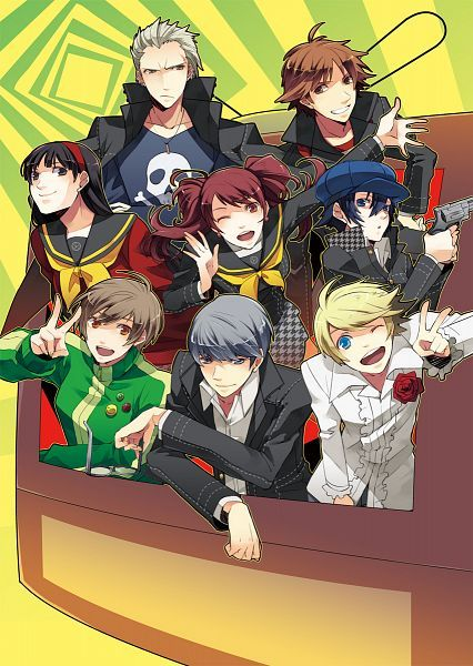 """Persona 4 cast, love every single one of them... """"Anyone can do it. As long as they open their eyes and look around, they'll see it. They'll see the truth!"""" - Yu"""