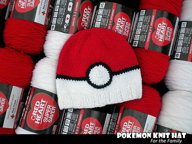 Pokemon Knit Hat pattern by Aunt Janet\'s Designs