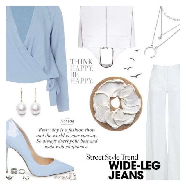 """Flare Up: Wide-Leg Jeans"" by orietta-rose ❤ liked on Polyvore featuring Federica Tosi, Boohoo, Steve Madden, Victoria Beckham, GUESS, denimtrend and widelegjeans"
