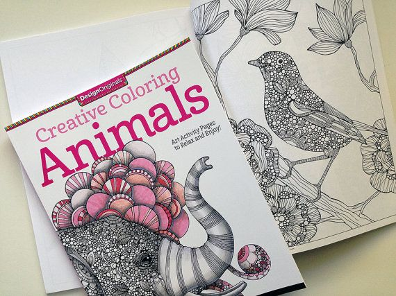 Creative Coloring Animals Art Activity Pages To By Valentinadesign