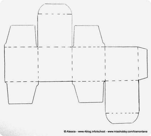 Scatolina fai da te a cubo velocissima altre scatole - Modelli di ghirlanda stampabili ...