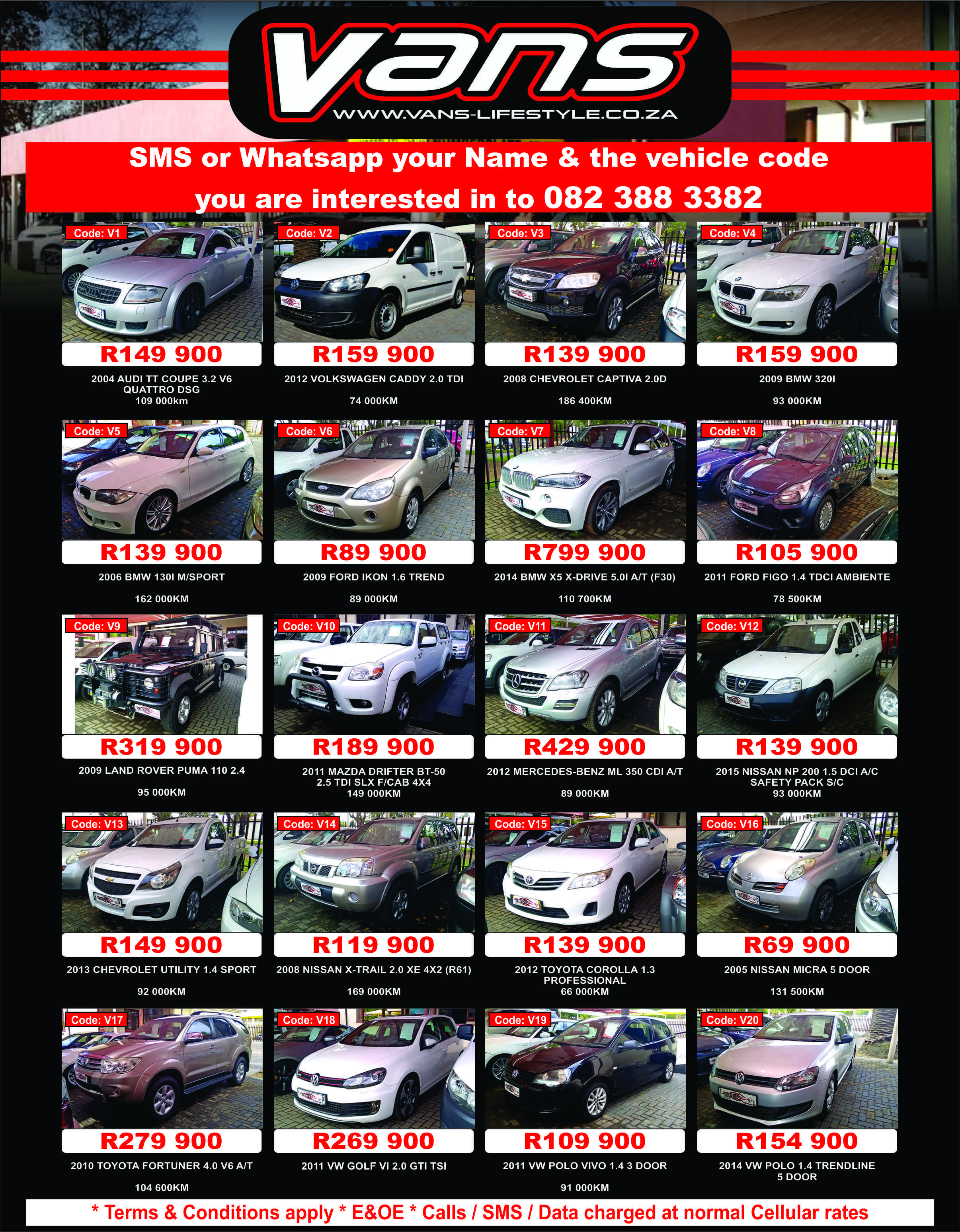 Dont Miss Out At Vans Car Sales Middelburg Call Us Now For More Information And Prices D Vans Car Sales Middelburg 082 388 Van Car Cars For Sale Used Cars