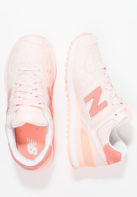 Chaussures New Balance WL574 Baskets basses pied corail
