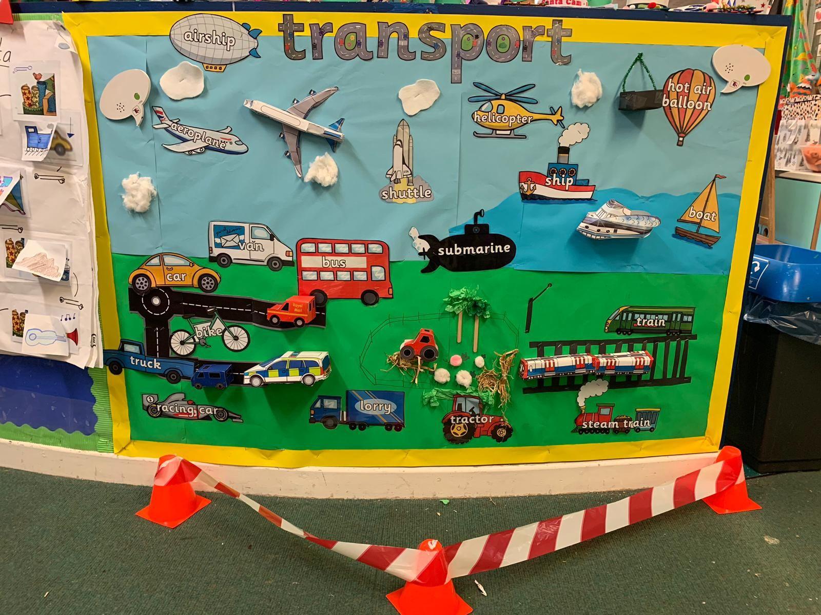 Transport Eyfs Display Board