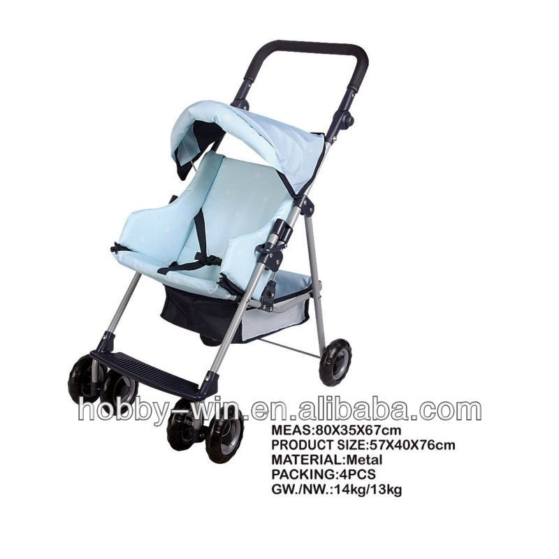 New Design For 2014 Toy Walker Metal Baby Doll Stroller With Car Seat
