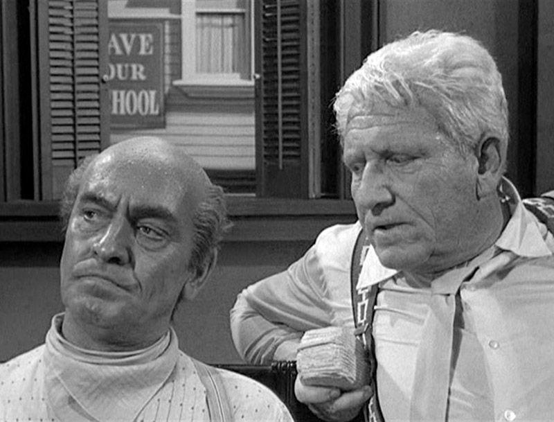 """Fredric March y Spencer Tracy en """"La herencia del viento"""", 1960"""