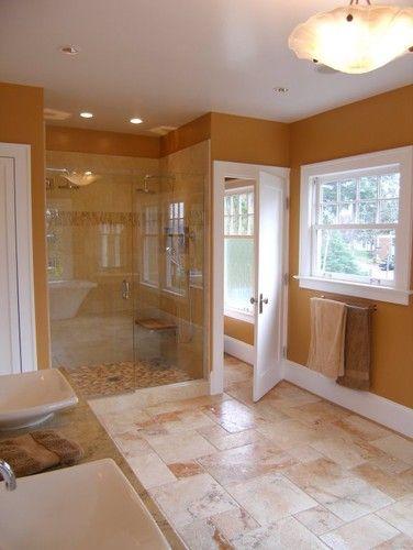 Travertine Floor Eclectic Bathroom Travertine Floors Guest Bathrooms