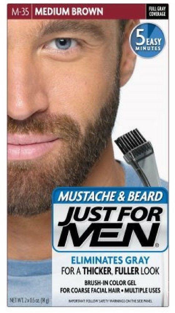 Just For Men Brush-In Color Mustache & Beard - Dark Brown ...