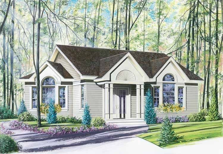 House Plan 2 Beds 1 Baths 1098 Sq Ft Plan 23 684 Contemporary House Plans Cottage House Plans House Plans
