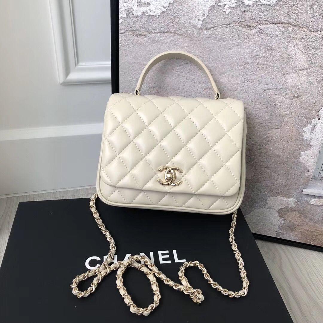 3e1aba79c62d Chanel Citizen Chic Mini Flap in White Lambskin in 2019 | Luxury ...