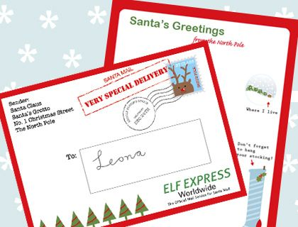 Christmas Freebies Letters From Santa Printables  Printable