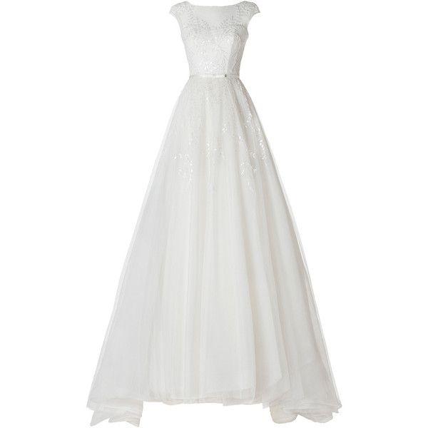 los diez vestidos de pronovias avance de la colección 2014 Lali ❤ liked on Polyvore featuring dresses, gowns, wedding and robe