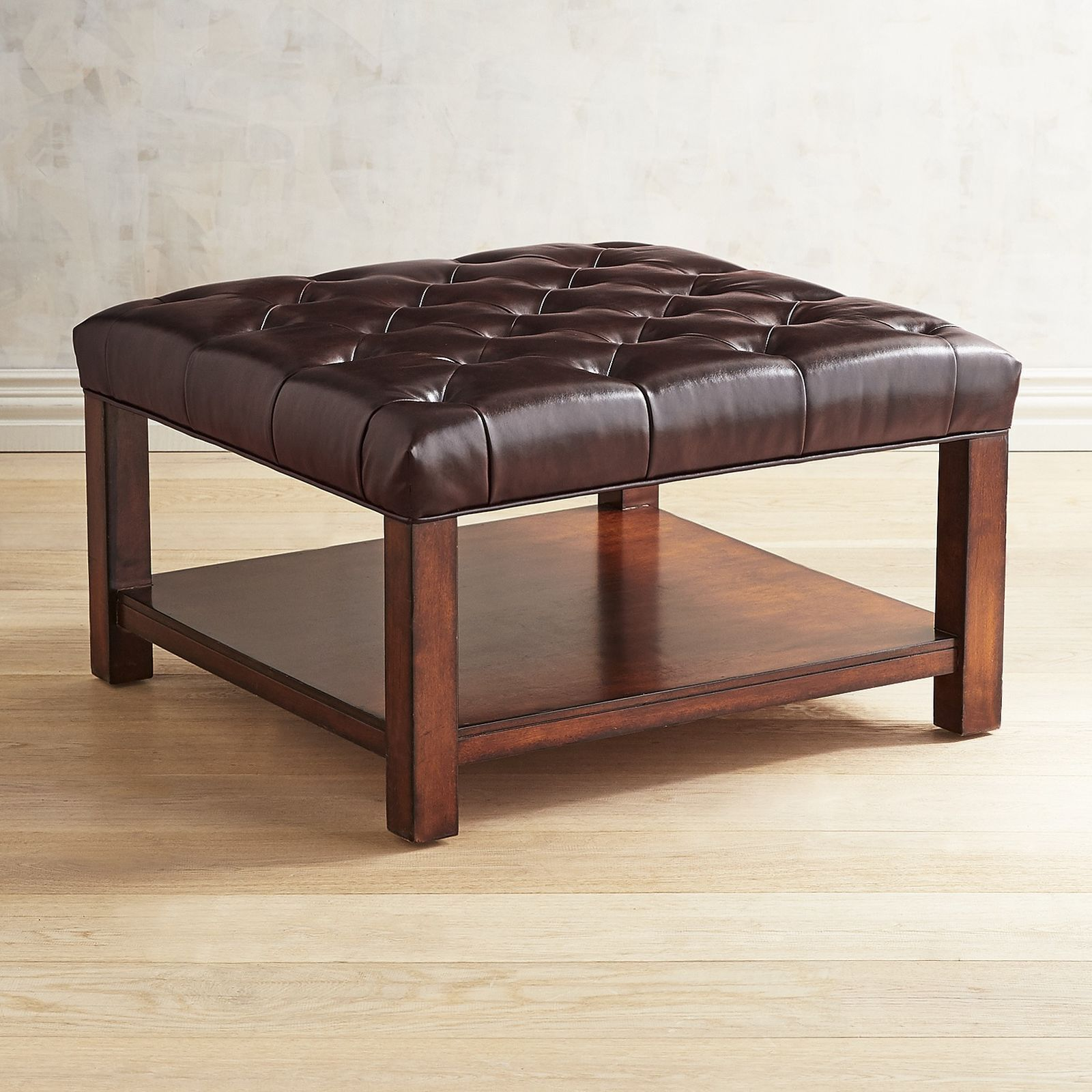 Liard Java Brown Square Cocktail Ottoman - Pier 1 Imports