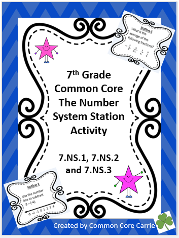 Rational Numbers Station Activity Math activities