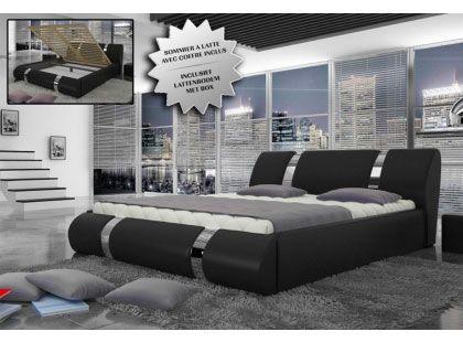 lit coffre noir cagliari vendu avec son sommier et son coffre v rins hyrdauliques chez. Black Bedroom Furniture Sets. Home Design Ideas