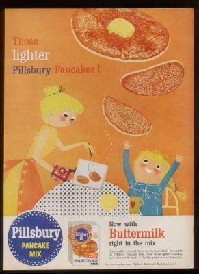 1956 Classic Pillsbury Pancake Mix Ad