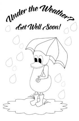 Duck Get Well Card Get Well Cards Free Get Well Cards Kids Cards