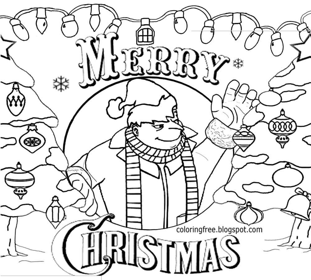 Xmas Easy Clipart Minion Victor Happy Christmas Minions Coloring Pages Cool Stuff To Pencil In Draw