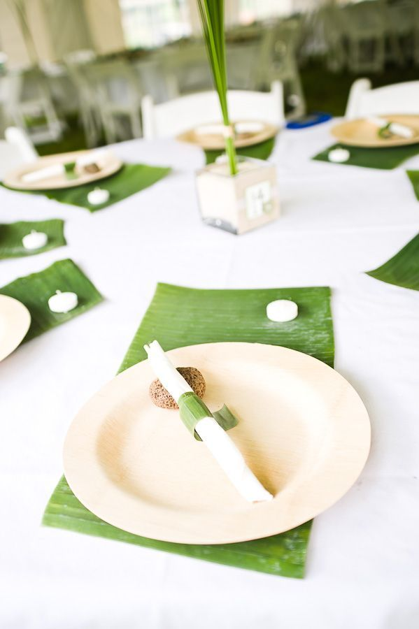 Banana Leaf Placemats Wedding Placemats Wedding Table Settings Filipiniana Wedding
