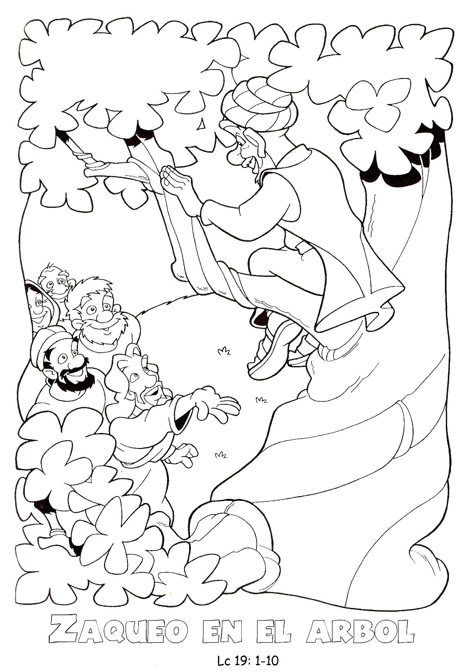 Dibujo para pintar sobre Zaqueo | Zaqueo | Pinterest | Zaqueo ...