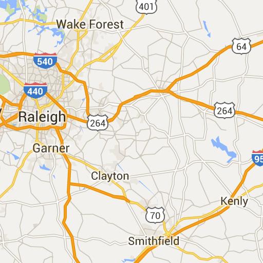Wake County - North Carolina Zip Code Boundary Map (NC) | Around NC ...