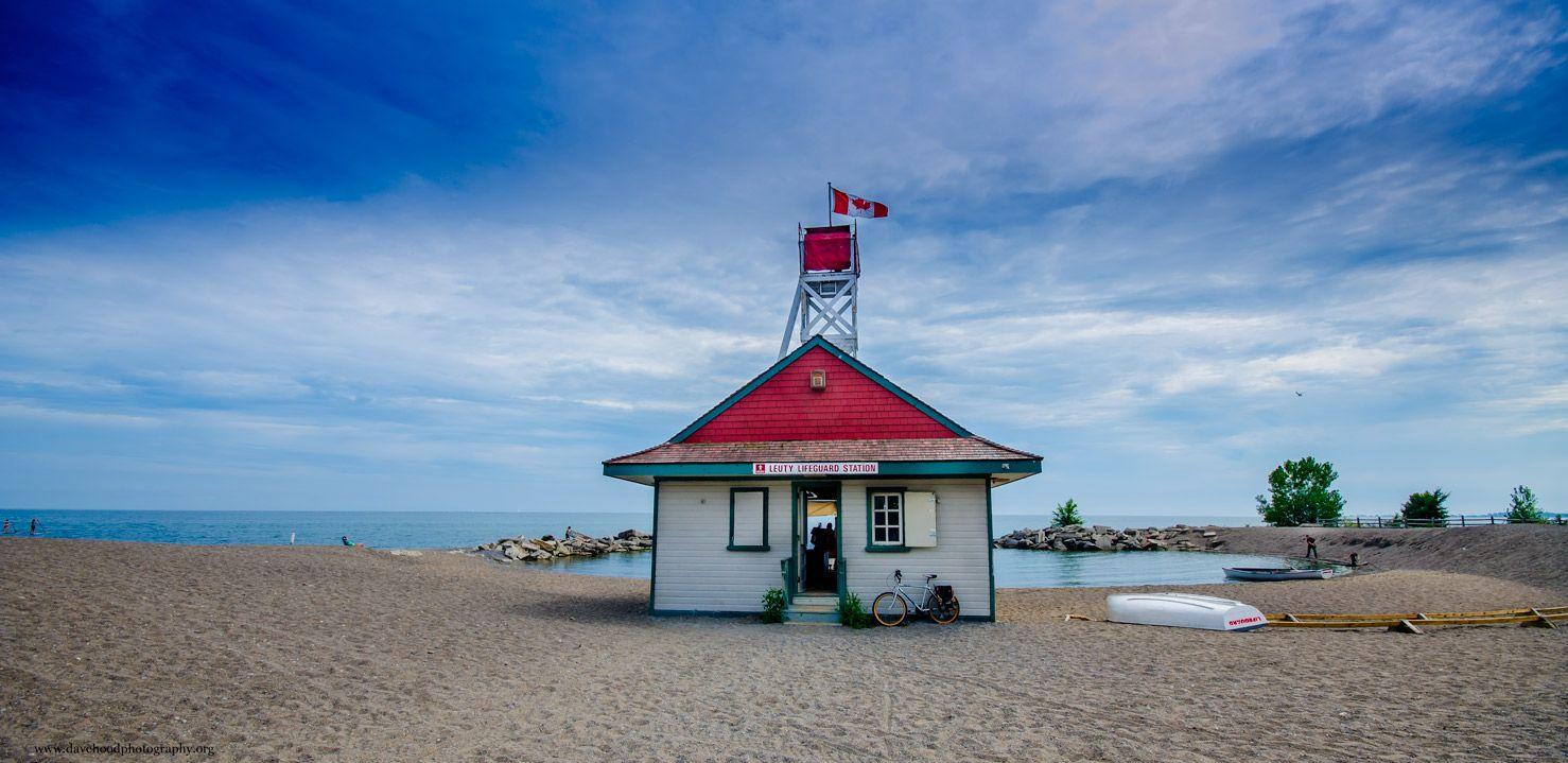 Lifeguard Station on the Beach Toronto canada travel