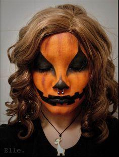 pumpkin makeup halloween for children - Google Search | Being me ...