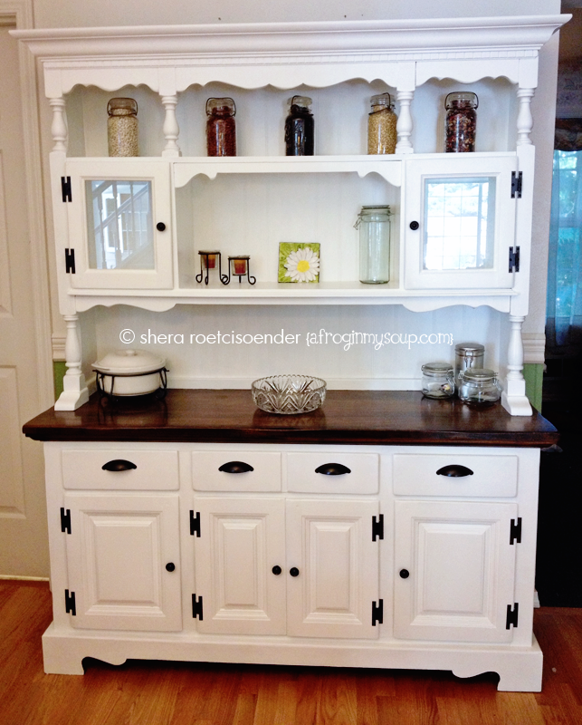 kitchen china cabinet hutch kitchen china hutch makeover project shera smit a frog 21506