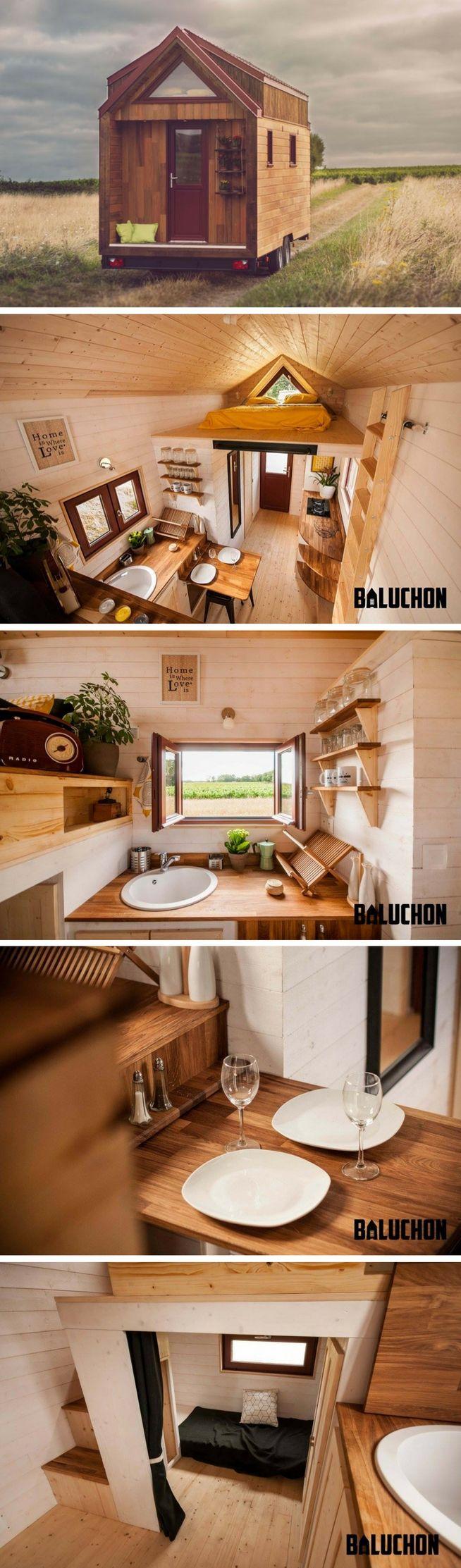 the odyssey tiny house from baluchon verschiedenes das mir gef llt pinterest kleines. Black Bedroom Furniture Sets. Home Design Ideas
