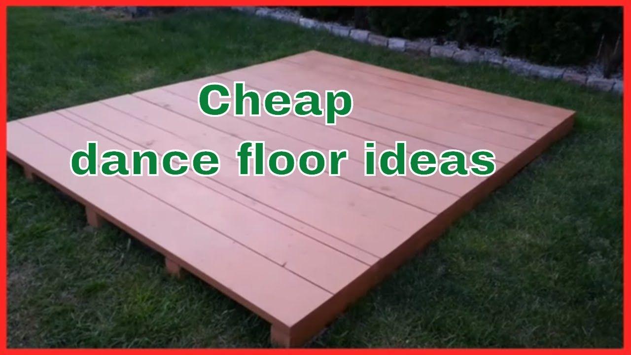 easy diy outdoor dance floor