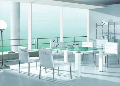 Ct55 Tablevig$67908Color Whitehigh Gloss White Legs Classy Dining Room Sets In Ct Decorating Inspiration