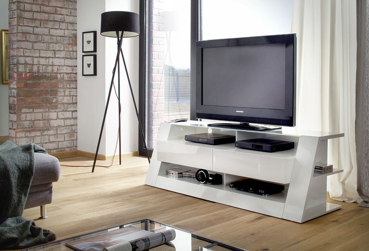 Buy Modern #TV #stand in #HighGlossWhite online at funique. Great ...